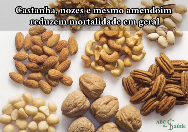 Castanha, nozes e mesmo amendoim reduzem mortalidade em geral | ABC da Saúde